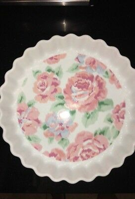 Lynn Hollyn Toscany Collection Pink Rose Pie Baking Dish