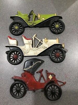 Vintage Midwest Wall Antique Cars Metal Three (3)