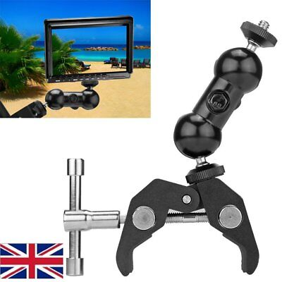 """1/4"""" BallHead Mount Articulating Arm Dual Ball Clamp Table for LCD Light Camera"""