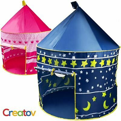 Portable Folding Kids Play Tent Blue Castle for Indoor/Outdoor Use