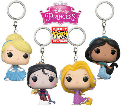 Funko Pocket POP! Keychains: Assorted DISNEY PRINCESSES - 1 1/2 inches tall