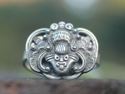 Ethnic miao silver bat ring adjustable tribal bohemian ring Gift for her or him