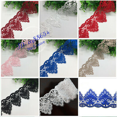 1 Yard Polyester Lace Trim Ribbon Embroidered DIY Sewing Craft Trimming A109
