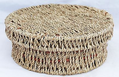 Vintage Wire Re-enforced Wicker Basket