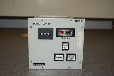 Pfeiffer Balzers TCP040 Turbomolecular Turbo Pump Controller, Power Cable PM 041