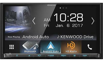 New Kenwood DMX7704S Double 2 DIN Media Player Android iPhone HD Radio Bluetooth
