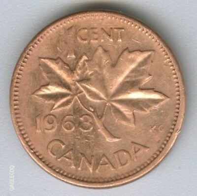Canada  - 1963 Canadian 1 Cent Coin Money