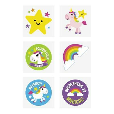 36 x Unicorn Temporary Tattoos...Party Favours...Treat Bag...Loot Bag Fillers