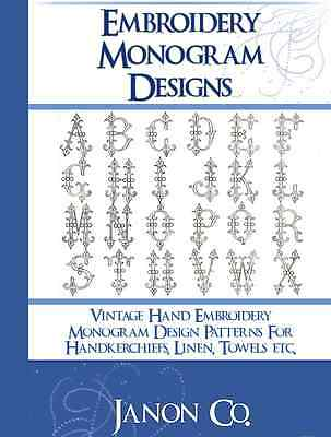Vintage Hand EMBROIDERY MONOGRAM DESIGN PATTERNS 66 Pages on CD