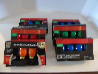 C9 Replacement Christmas Strand Lights Bulbs RED / BLUE / GREEN / ORANGE