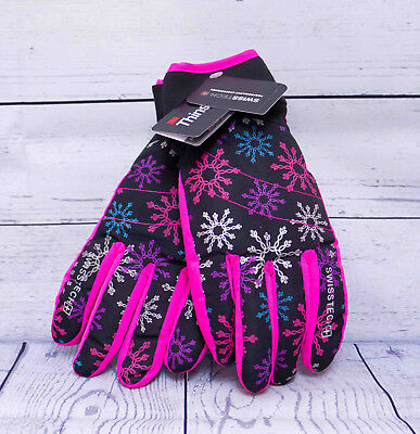 Girls Swiss Tech Ski Gloves Size L-XL Thinsulate Waterproof New with Tags