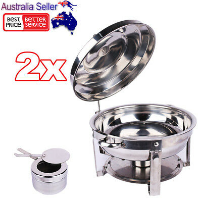2X Stainless Steel Chafer Bain Marie Chafing Dishes Buffet Food Warmer Heater
