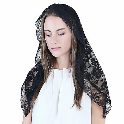 Black Veil Lace Mantilla Catholic Church Chapel Veil Head Covering Latin Mass