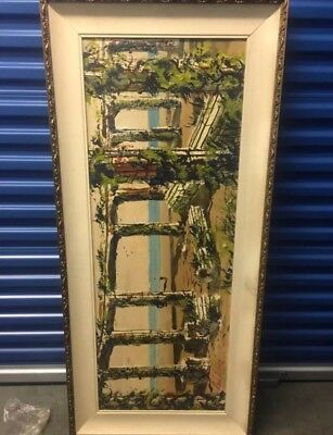 Authentic Paul Blaine Henrie Original Knife Pallet Oil On Canvas Beautiful Piece