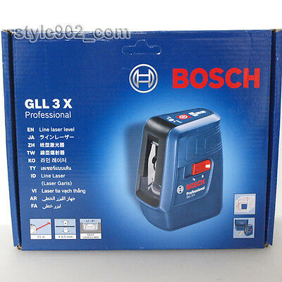 Original BOSCH Professional GLL3X Self Level Cross Line Laser GLL 3X
