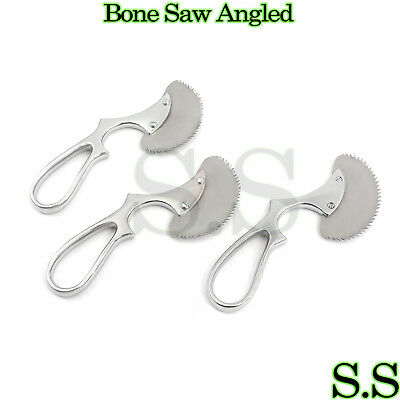 "3 Pcs Surgical Angled Bone Saw 6"" Orthopedic Veterinary UPGRADED Instruments"