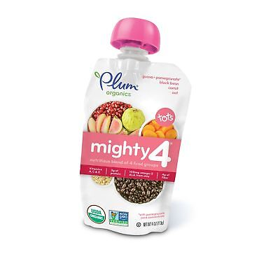 Plum Organics Mighty 4 Organic Toddler Food Guava Pomegranate Black Bean Carr...
