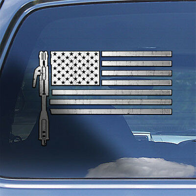 USA Welder Flag Decal Sticker - American flag welding window decal weld sticker
