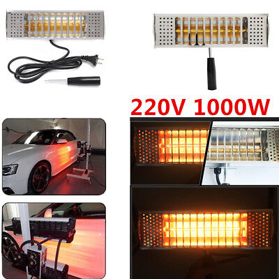 Hot ! 1000W 220V Infrared Paint Curing Heating Lamp Body Shop Booth Hand Held