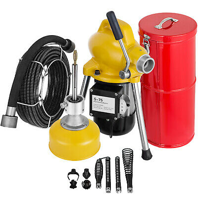 "3/4""-5"" Drain Cleaner 500 W Sectional Sewer Snake Drain Auger Cleaning Machine"