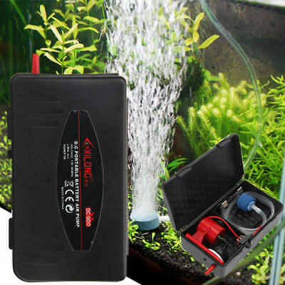 5W Aquarium Operated Battery Fish Tank Air Pump Aerator Oxygen with Air Stone