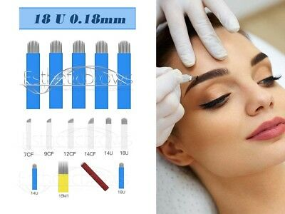 Microblading Permanent make up pmu  Blades/Nadeln/Needles 18 U 0,18mm 10 Stück