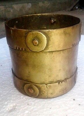 Vintage Brass Mana India Pencil Pen Stand Old Decor Rare Antique Hand Made