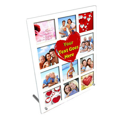 """Personalised Photo, I Love You, 8"""" x 10"""" Toughened Glass Frame With Peg Stand"""
