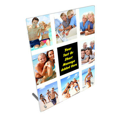 """Personalised Photos & Message, 8"""" x 10"""" Toughened Glass Frame With Peg Stand"""