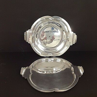 Lovely pair of Vintage Charles Green & Co Silver Plated trays Art Deco style