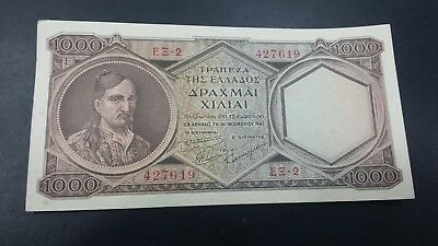 Greece 1000  Drachmai High Grade  Banknote 1947