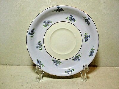 Shelley Saucer Only ~ 5 1/2 Inch Dia. Fine Bone China Blue & Yellow Saucer 13325