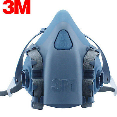 Free Shipping 3M 7502 Reusable Respirator Painting Spraying Half Face/Gas Mask