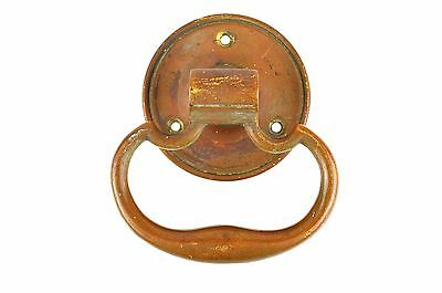 "Antique LG 4""  Brass Bronze Handle Door Pull Front Barn Door New England BEAUTY"