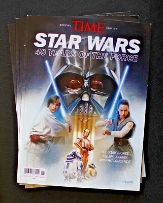 New Rare Time Magazine  ~ Star Wars ~ 40 Years Of The Force ~ Special Edition