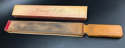VINTAGE WOODEN EDMOND ROFFLER SHAVING STRAIGHT RAZOR STROP RETRO Estate Find