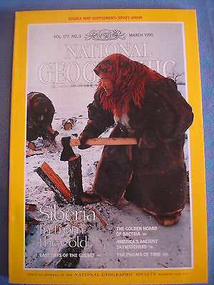 National Geographic - March 1990 - Siberia - Bactria -