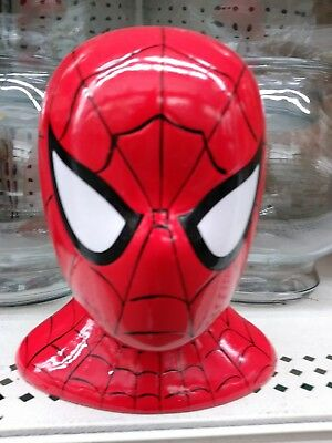Spiderman Piggy Bank Marvel Comics Ceramic Coin Money NEW ~ Hard to Find!