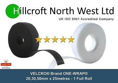 VELCRO® Brand ONE-WRAP® Black double sided reusable Strapping Cable Ties DIY