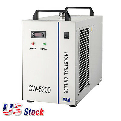 US 220V S&A CW-5200BH Industrial Water Chiller for Welder / CO2 Glass Laser Tube