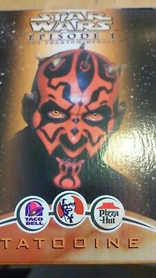 "Star Wars Episode I figure 6"" Darth Maul and Sith Speeder TACO BELL KFC"
