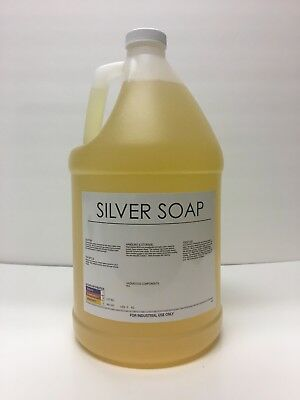 Burnishing Compound, liquid silver/stainless steel polishing debur soap  128oz