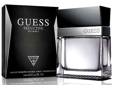 GUESS SEDUCTIVE Homme Cologne Perfume For Men 3.4 oz Edt Spray 100% Original NEW