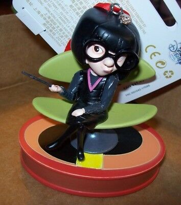 Disney Store 2017 Incredible's -Edna Mode Talking Sketchbook Ornament New W/tag