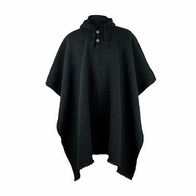 Xxl Llama Wool Mens Unisex South American Poncho Cape Coat Jacket Otavalo