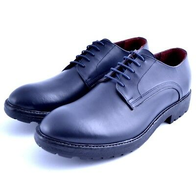 Scarpe shoes stringate Must uomo man pelle leather cuoio camoscio bluette Geox