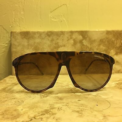 Authentic Carrera sunglasses brown gold tortoiseshell with case unisex