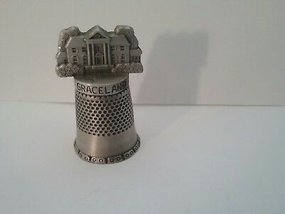 Collectible Graceland Pewter Thimble Crafts Sewing Threads