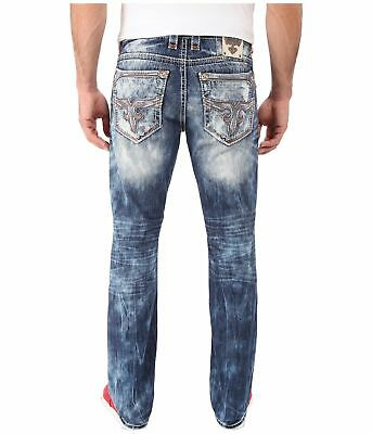 ROCK REVIVAL JEANS Flann Alternative Low Slim Straight Leg Jean Buckle NWT $169