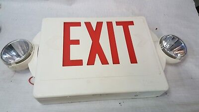 Lithonia Lighting Lighted Exit Sign with Emergency Lighting.